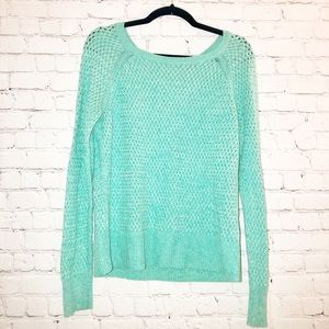 Cable knit Sweater American Eagle turquoise